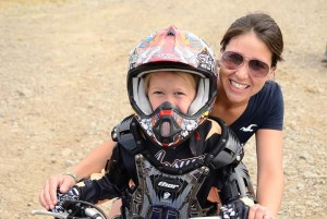 Renee with her daughter, who rides motocross! (Future UF heroine in the making?)